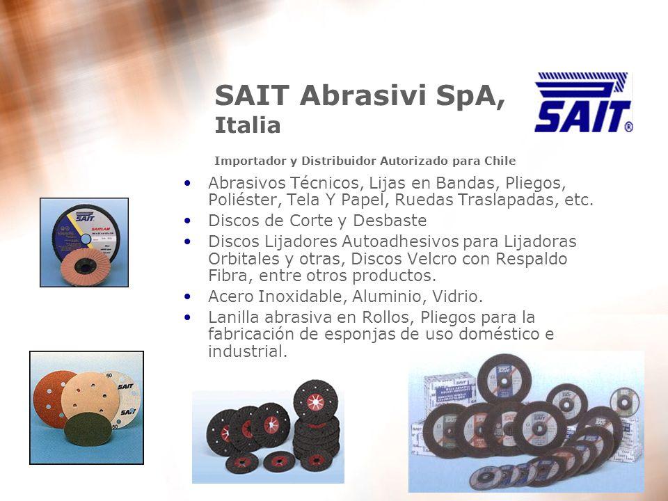 SAIT Abrasivi SpA, Italia Importador y Distribuidor Autorizado para Chile