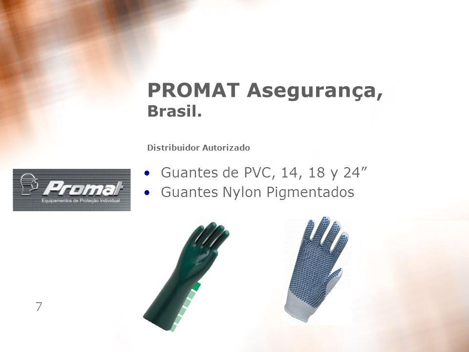 PROMAT Asegurança, Brasil. Distribuidor Autorizado