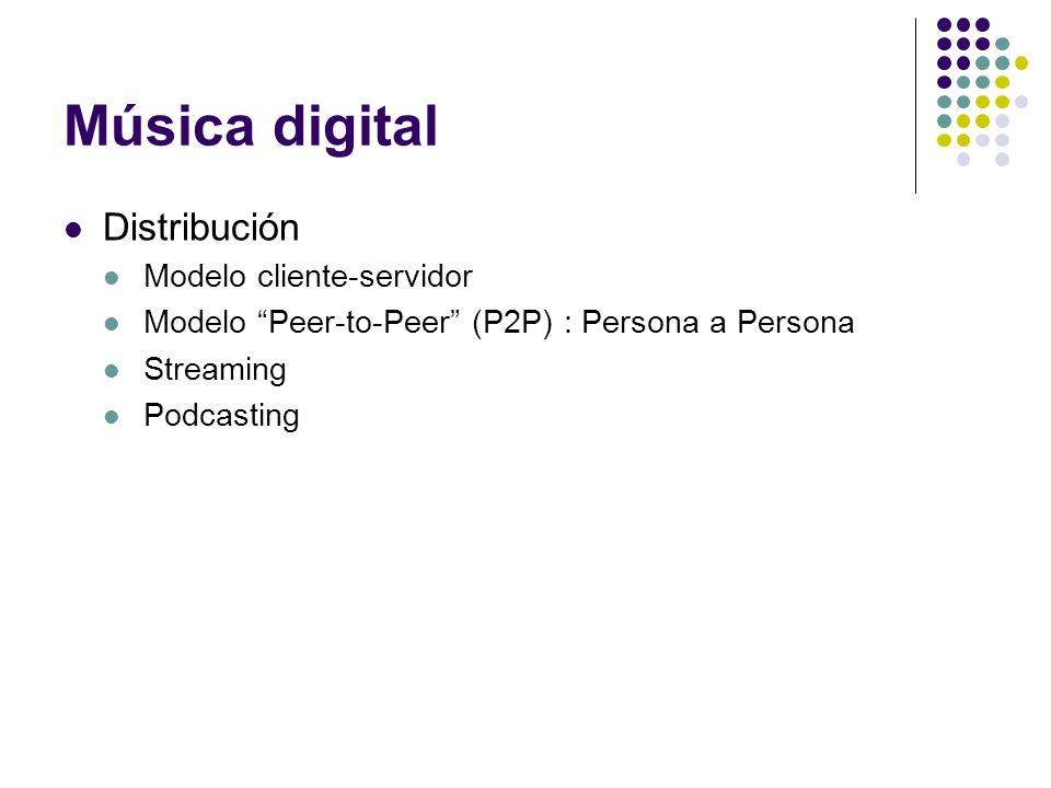 Música digital Distribución Modelo cliente-servidor