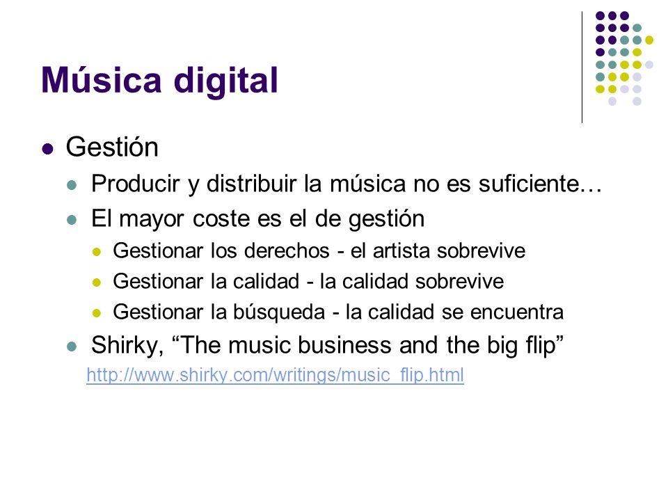 Música digital Gestión