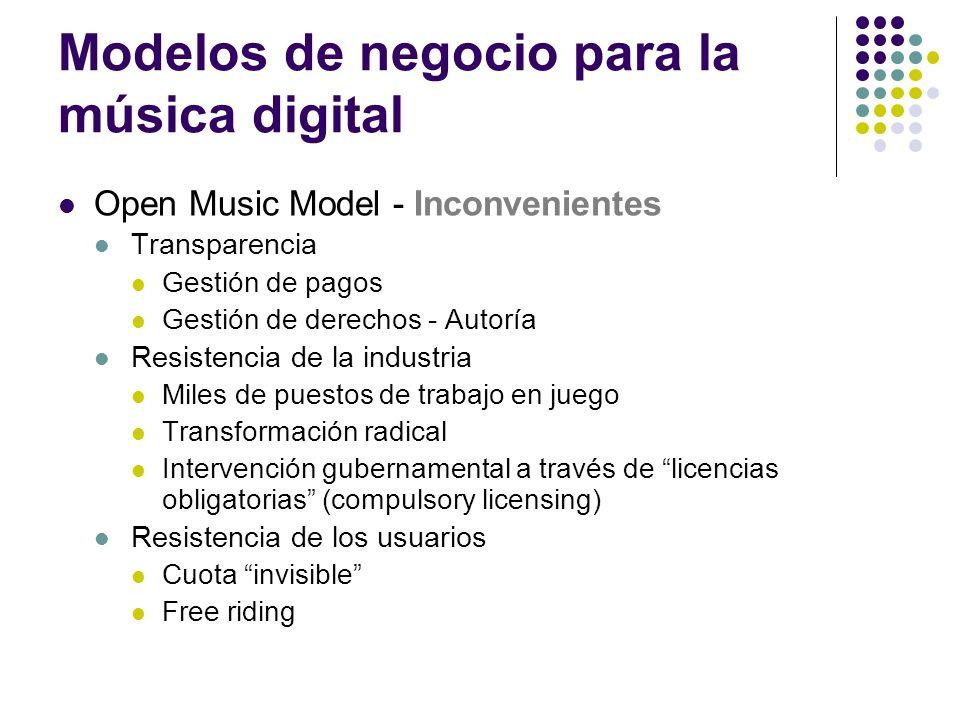Modelos de negocio para la música digital