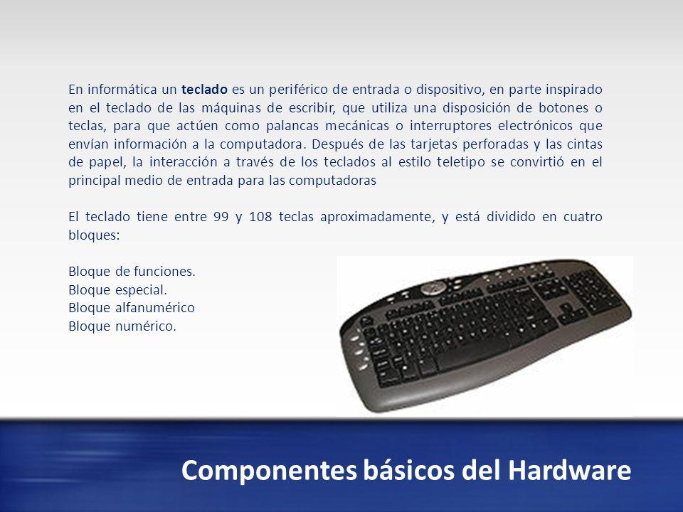 Componentes básicos del Hardware