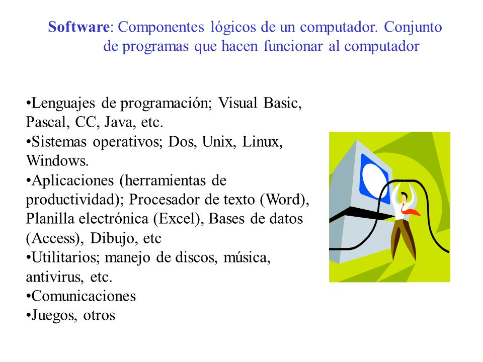 Software: Componentes lógicos de un computador