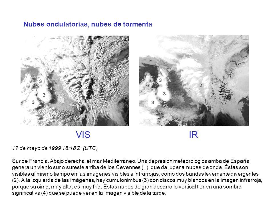 VIS IR Nubes ondulatorias, nubes de tormenta