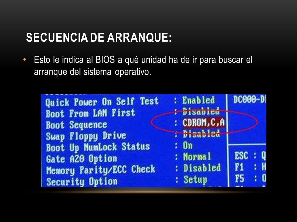 Secuencia de Arranque:
