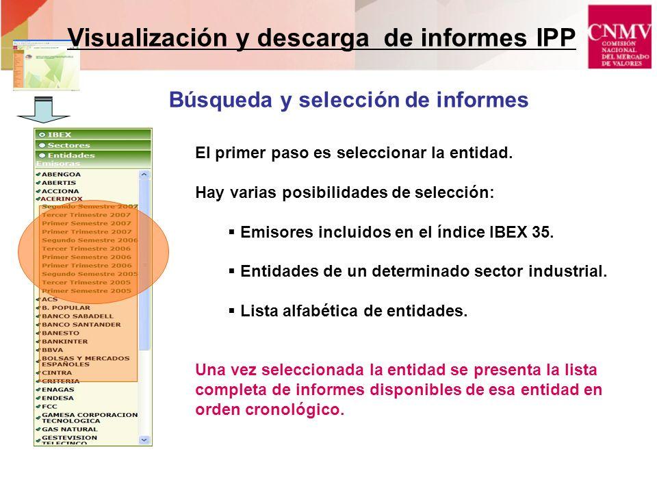 Visualización y descarga de informes IPP