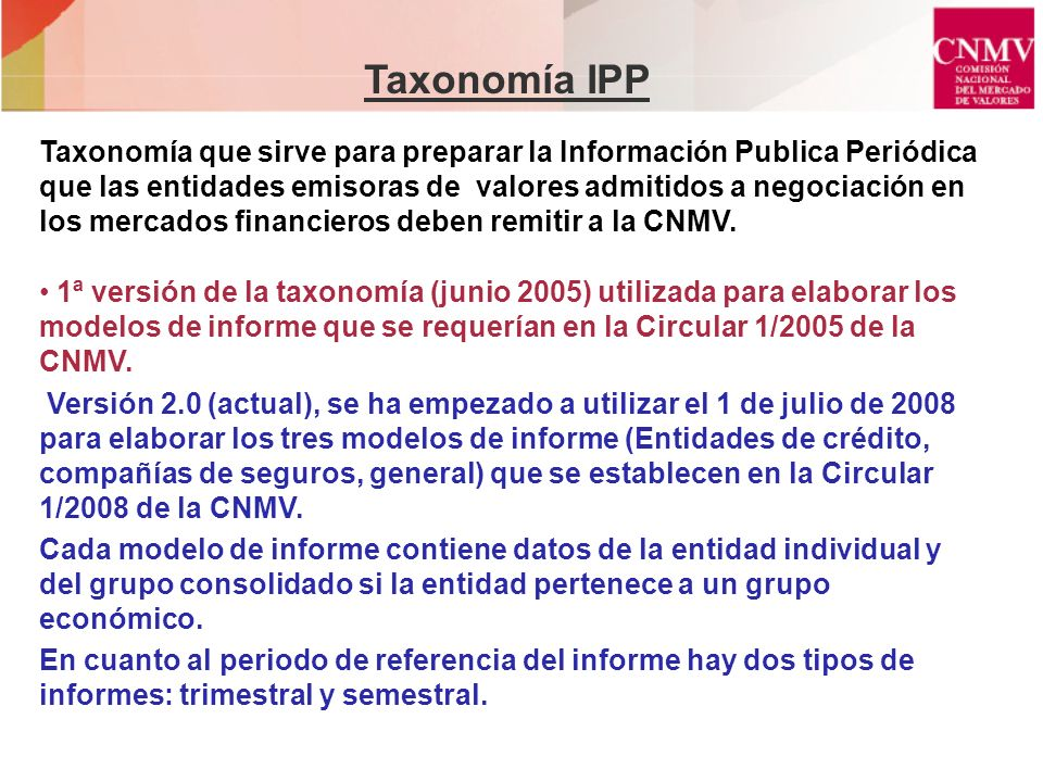 Taxonomía IPP