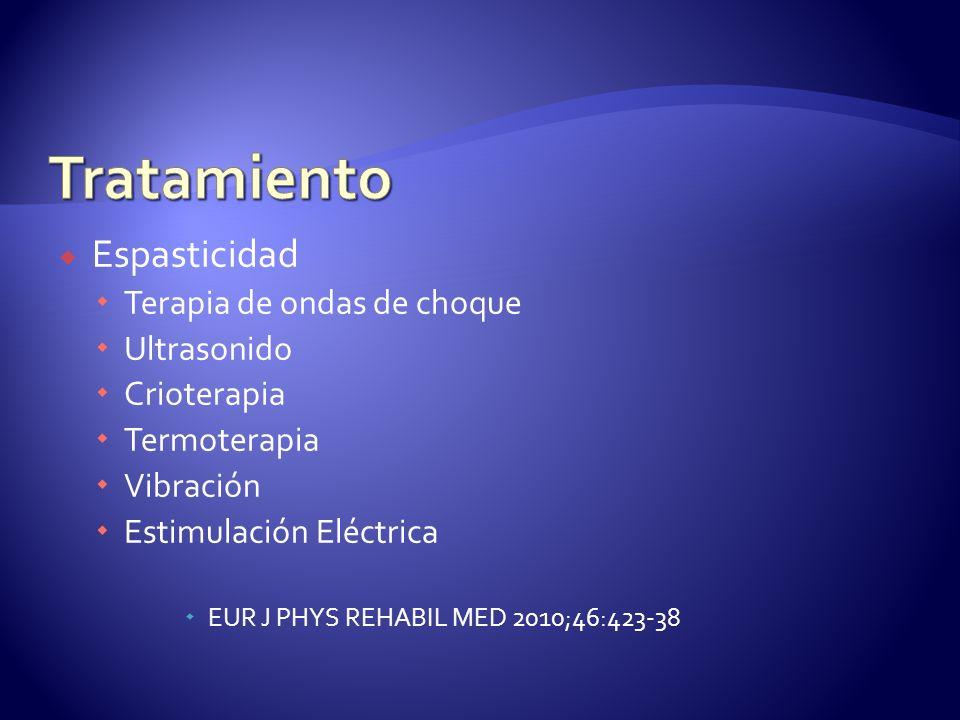 Tratamiento Espasticidad Terapia de ondas de choque Ultrasonido