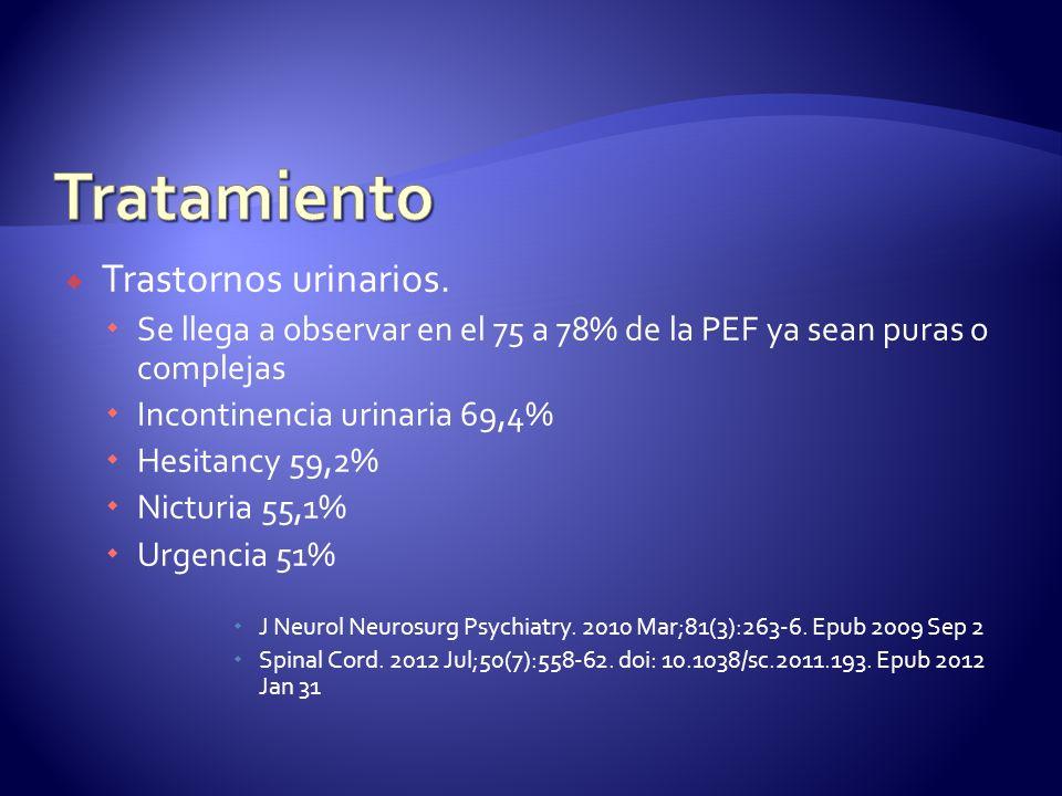 Tratamiento Trastornos urinarios.