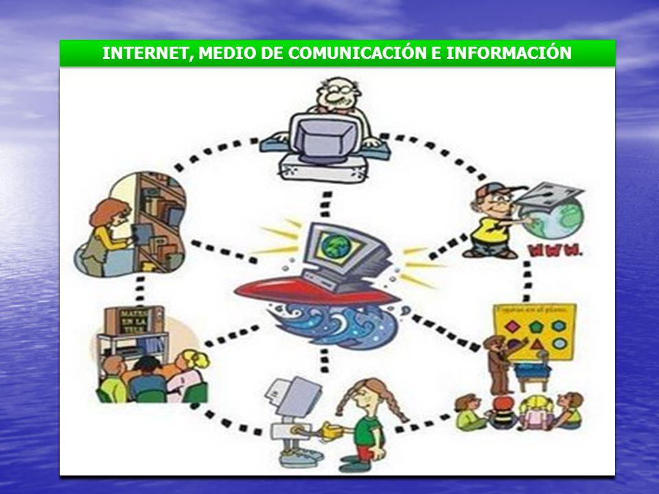 INTERNET, MEDIO DE COMUNICACIÓN E INFORMACIÓN
