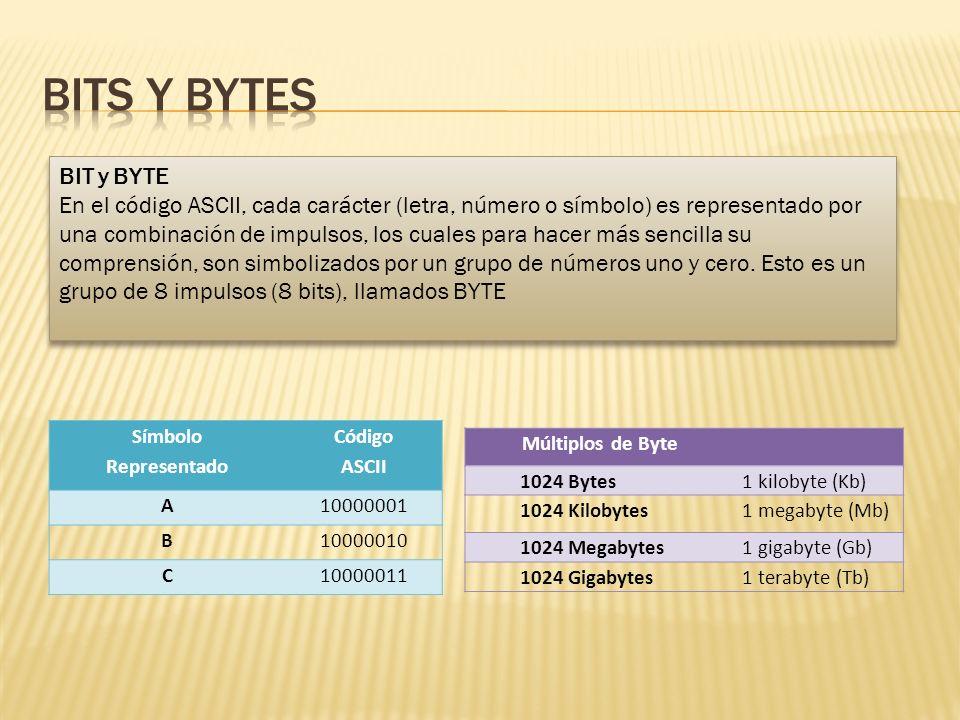 Bits y bytes BIT y BYTE.