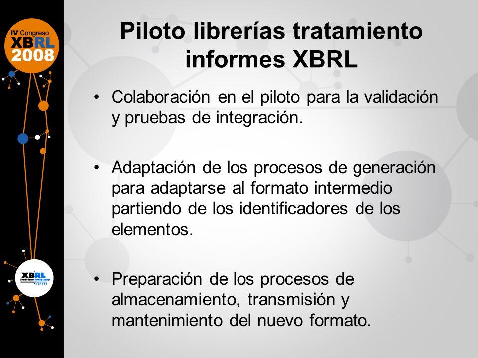 Piloto librerías tratamiento informes XBRL