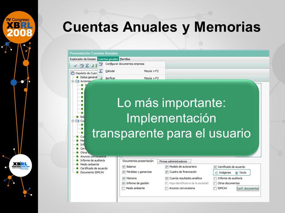 Cuentas Anuales y Memorias