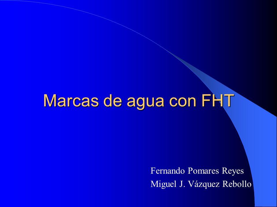 Marcas de agua con FHT Fernando Pomares Reyes