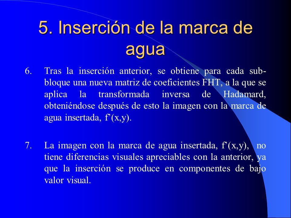5. Inserción de la marca de agua