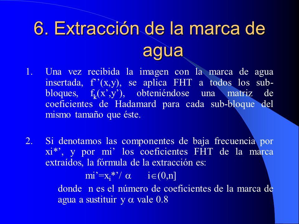 6. Extracción de la marca de agua