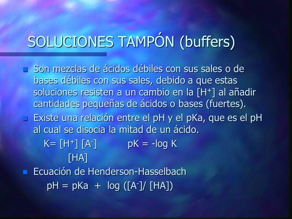 SOLUCIONES TAMPÓN (buffers)