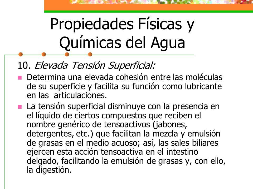 Propiedades Físicas y Químicas del Agua