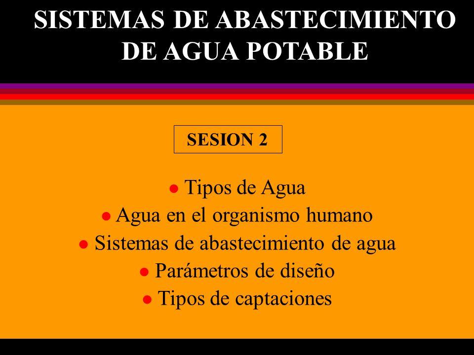 SISTEMAS DE ABASTECIMIENTO DE AGUA POTABLE