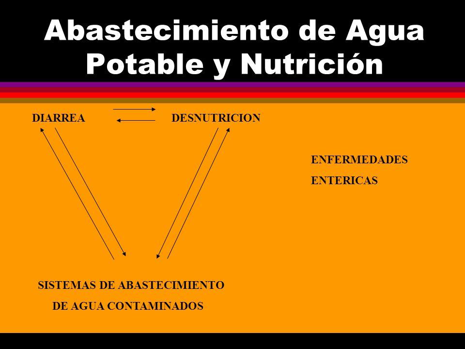 Abastecimiento de Agua Potable y Nutrición