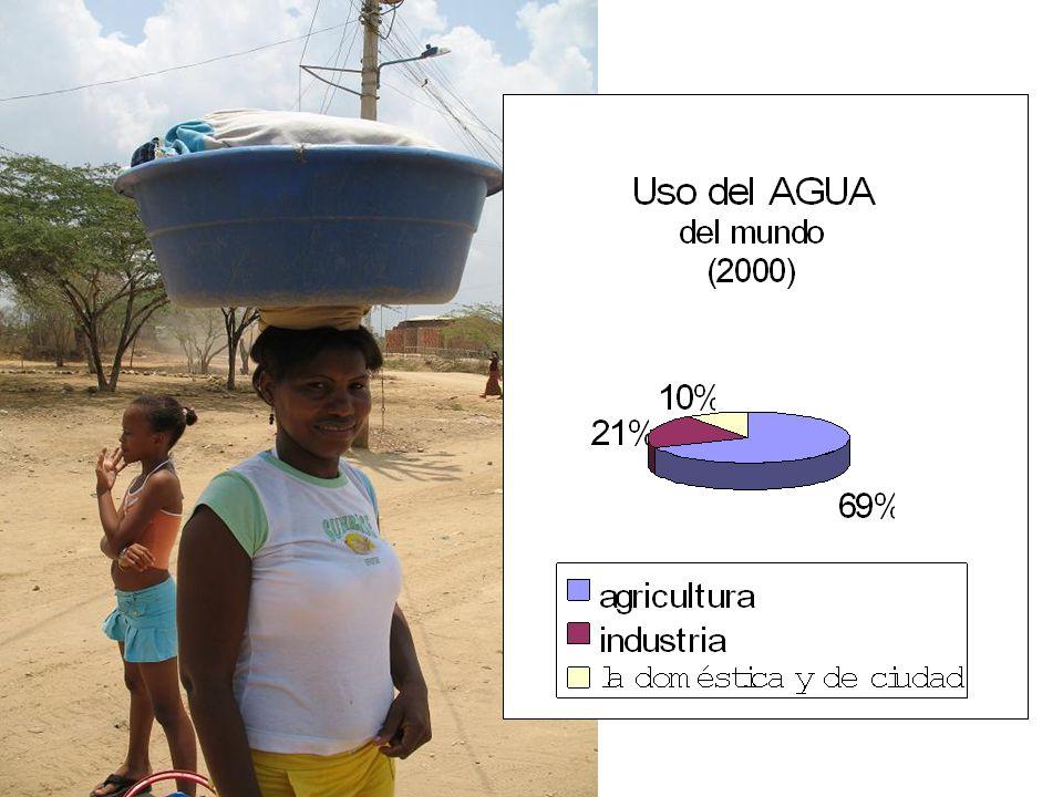 Ahora muchas más regiones encuentran dificultades en producir alimentos por el agotamiento del recurso del agua dulce.