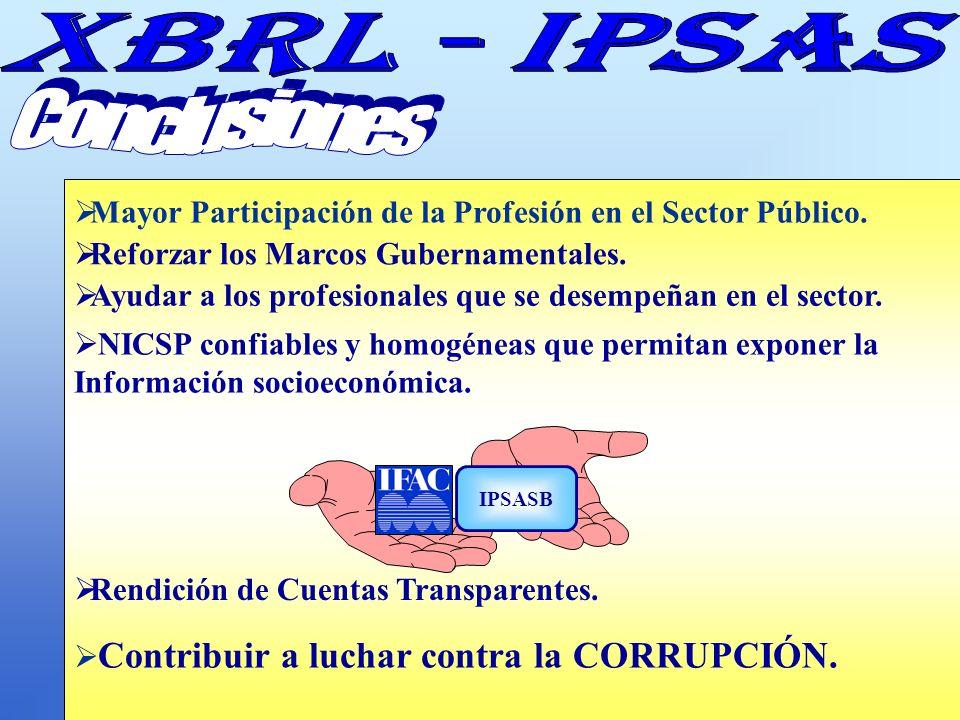 Conclusiones Mayor Participación de la Profesión en el Sector Público.