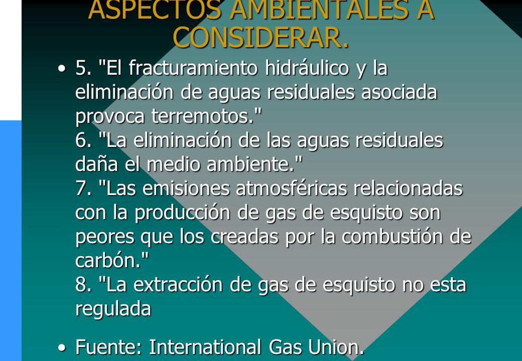 ASPECTOS AMBIENTALES A CONSIDERAR.