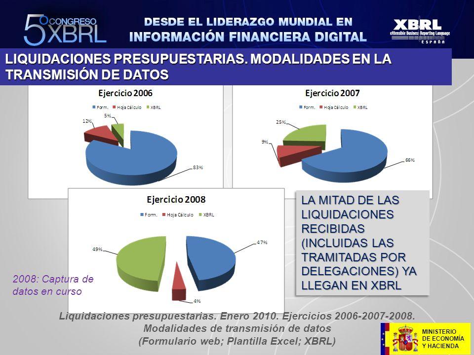 (Formulario web; Plantilla Excel; XBRL)