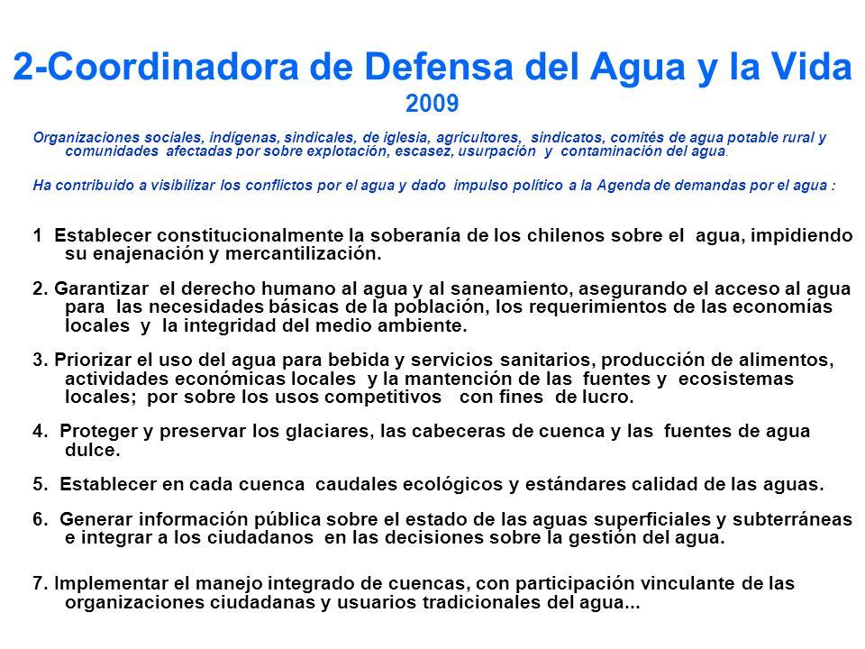 2-Coordinadora de Defensa del Agua y la Vida 2009