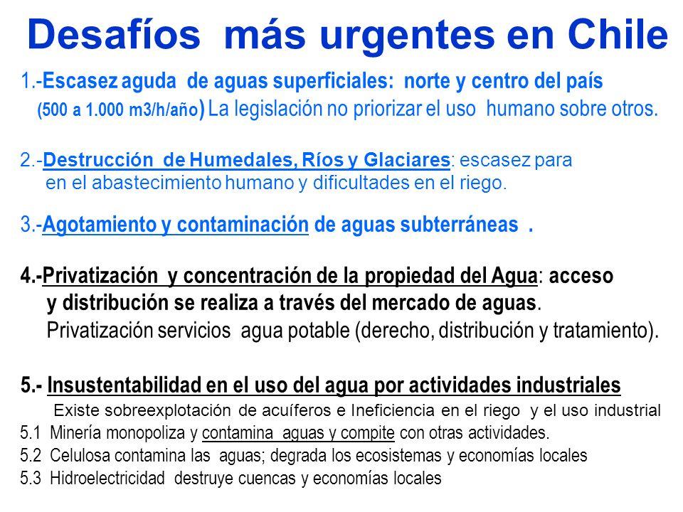 Desafíos más urgentes en Chile