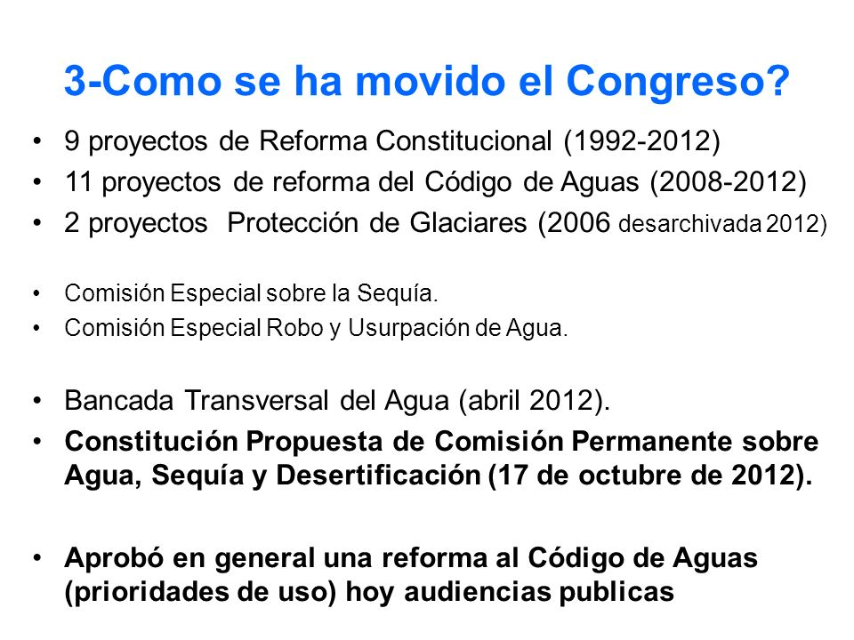 3-Como se ha movido el Congreso