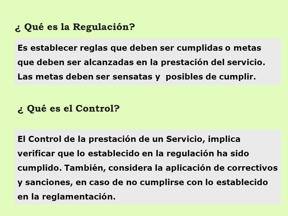 ¿ Qué es la Regulación ¿ Qué es el Control