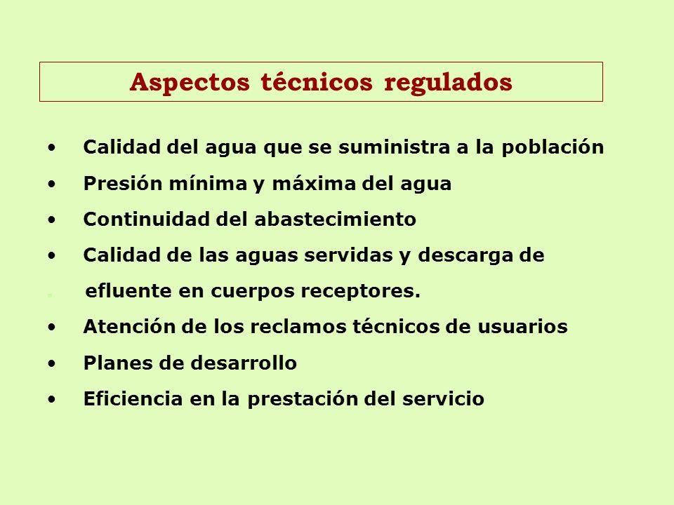 Aspectos técnicos regulados
