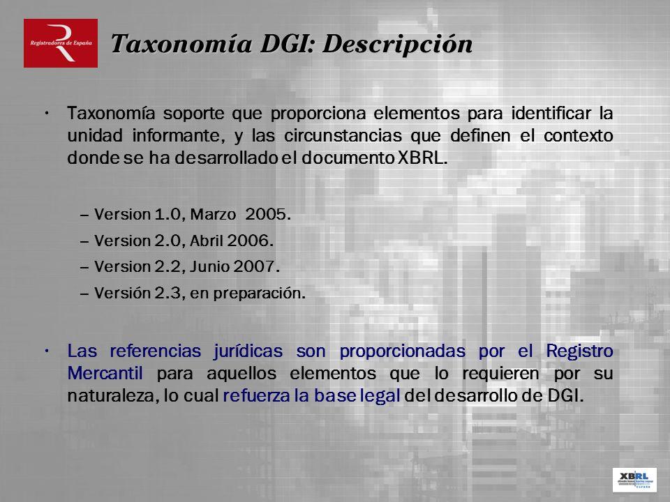 Taxonomía DGI: Descripción