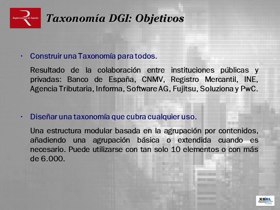 Taxonomía DGI: Objetivos