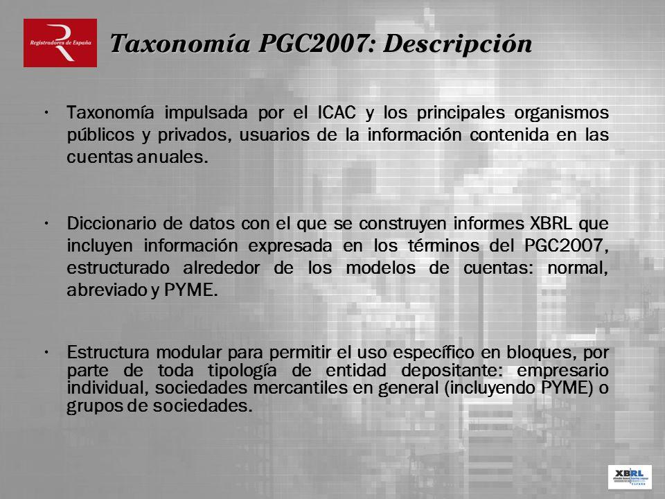 Taxonomía PGC2007: Descripción