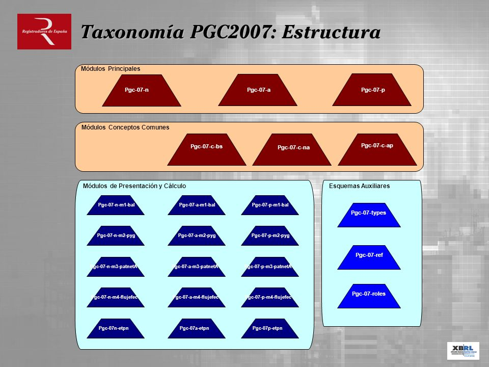 Taxonomía PGC2007: Estructura