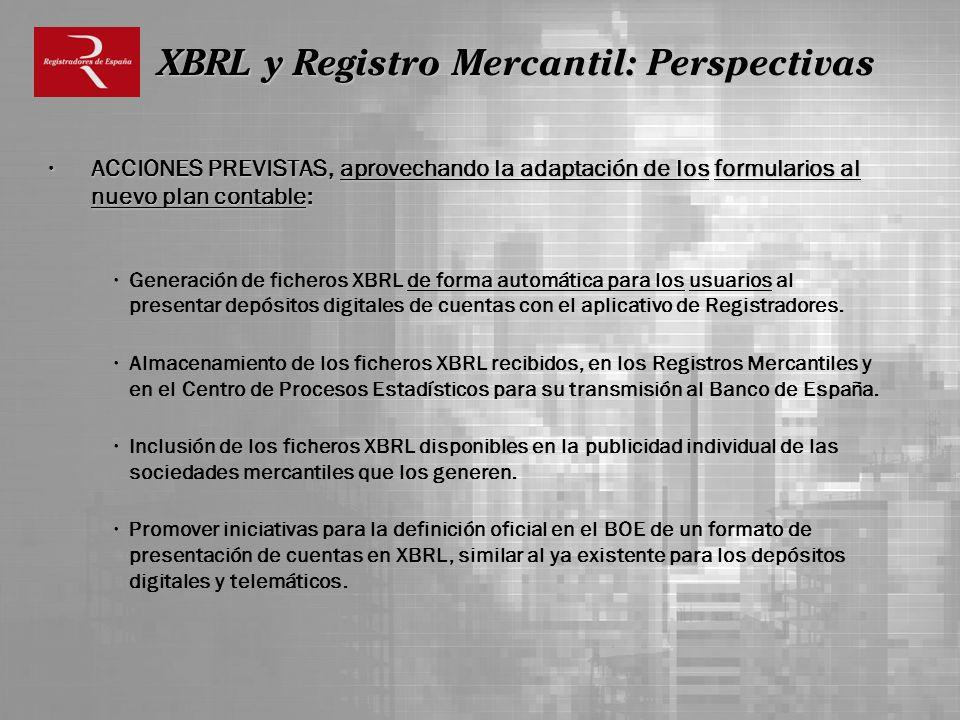 XBRL y Registro Mercantil: Perspectivas
