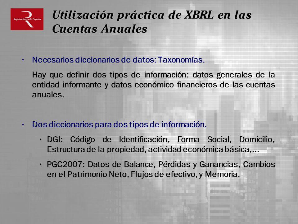 Utilización práctica de XBRL en las Cuentas Anuales