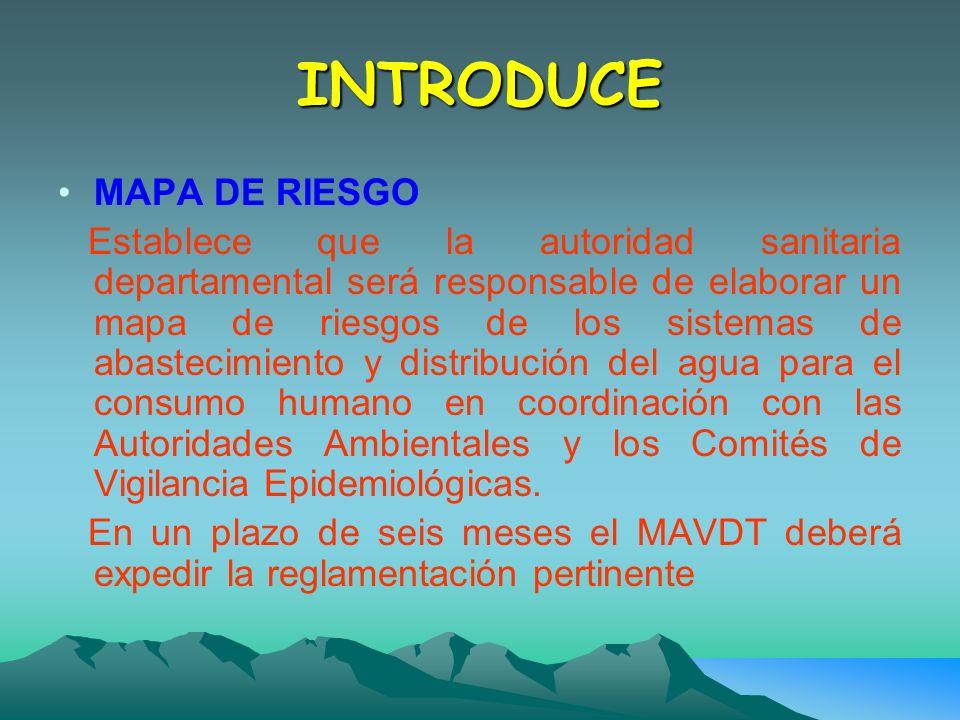 INTRODUCE MAPA DE RIESGO