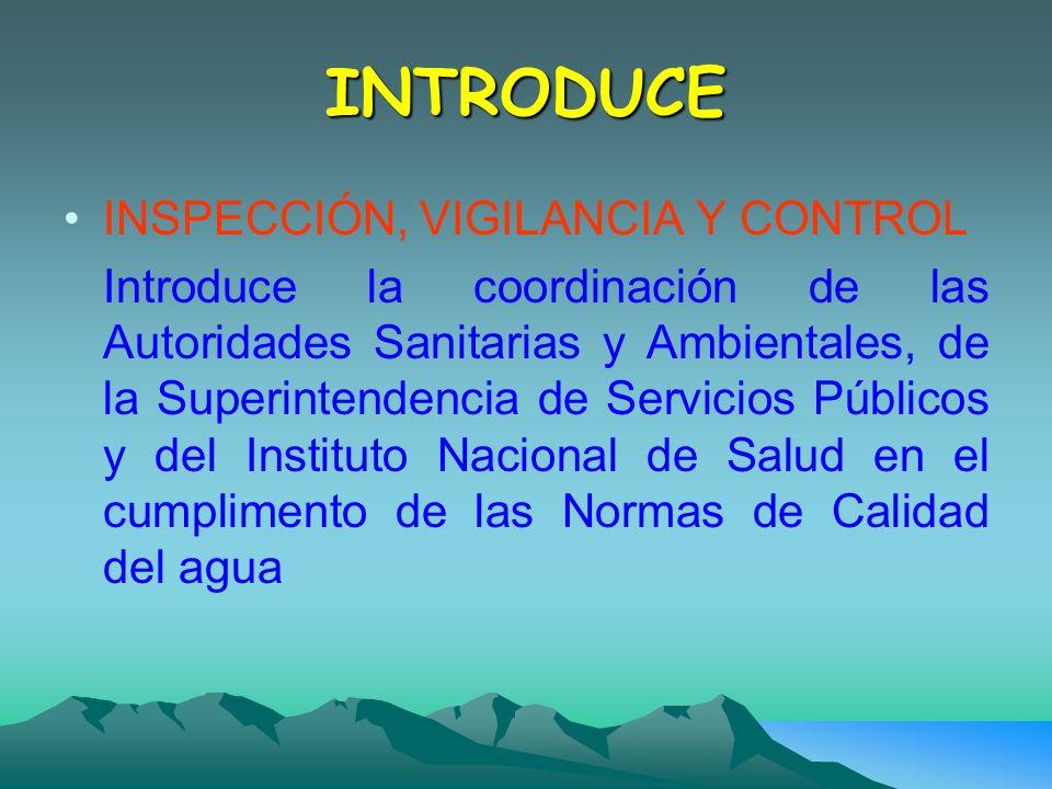 INTRODUCE INSPECCIÓN, VIGILANCIA Y CONTROL