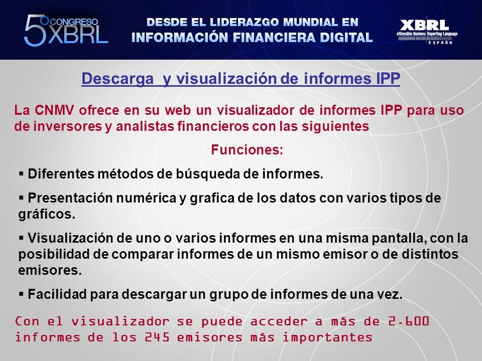 Descarga y visualización de informes IPP