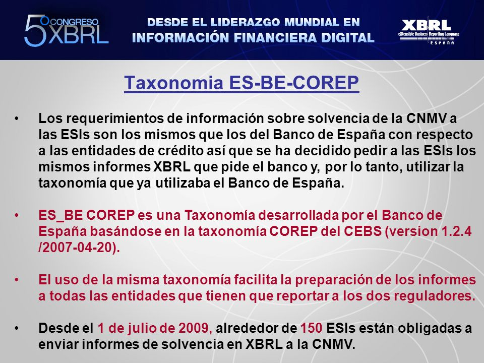 Taxonomia ES-BE-COREP