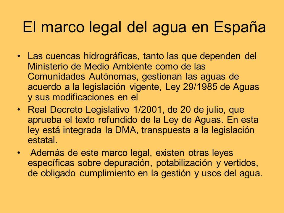 El marco legal del agua en España