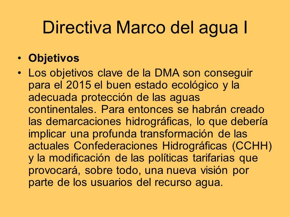 Directiva Marco del agua I