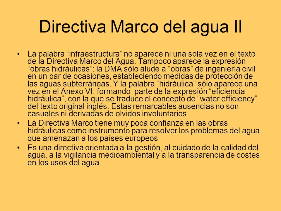 Directiva Marco del agua II