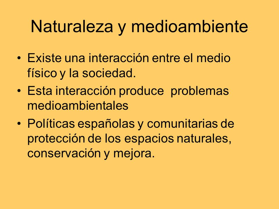 Naturaleza y medioambiente