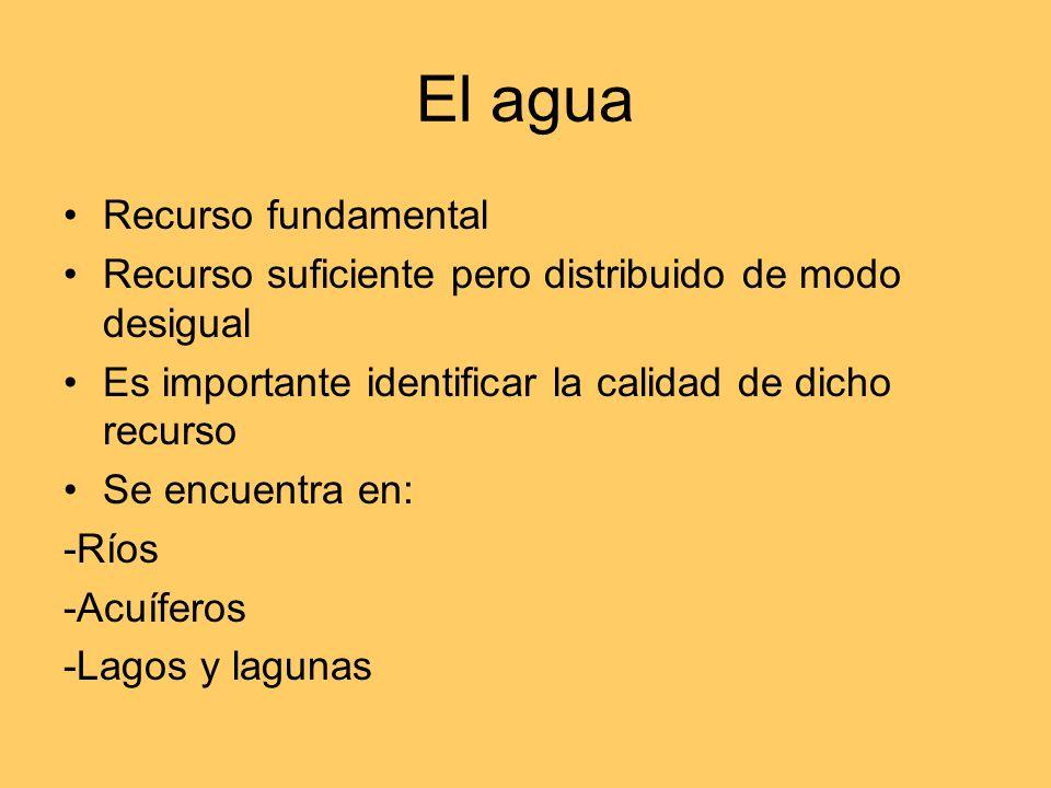 El agua Recurso fundamental
