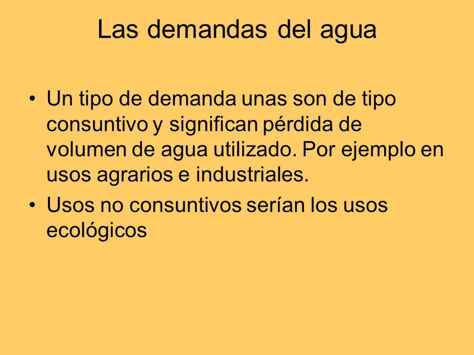 Las demandas del agua