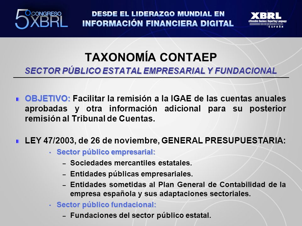 TAXONOMÍA CONTAEP SECTOR PÚBLICO ESTATAL EMPRESARIAL Y FUNDACIONAL